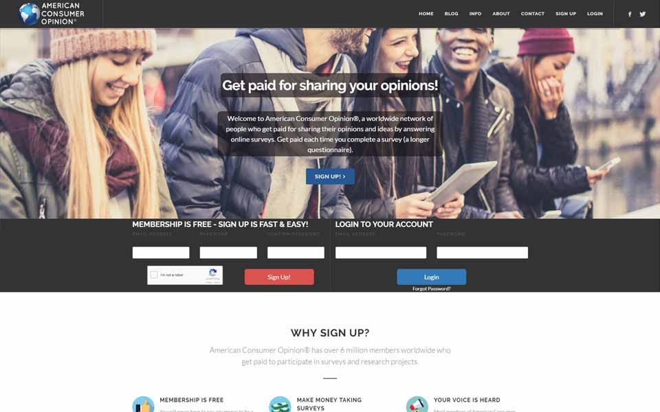 American Consumer Opinion - Earn Money Answering Surveys