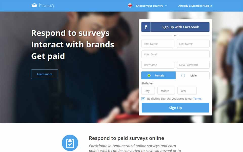 Hiving - join our community of consumers, voice your opinion and make extra money while helping brands to innovate better