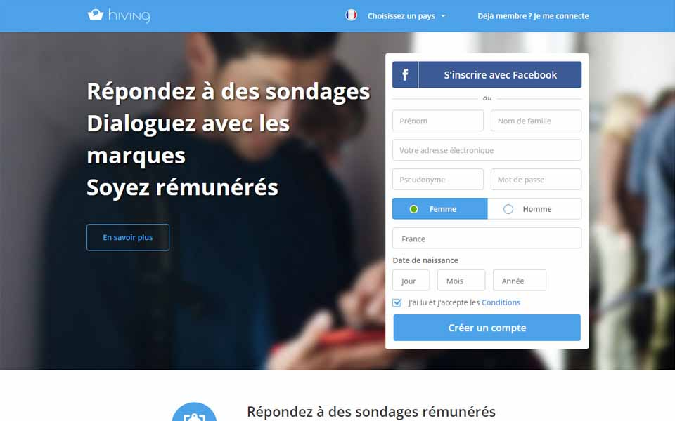 Les enqu tes pay es sur internet panels d tudes for Job sur internet remunere