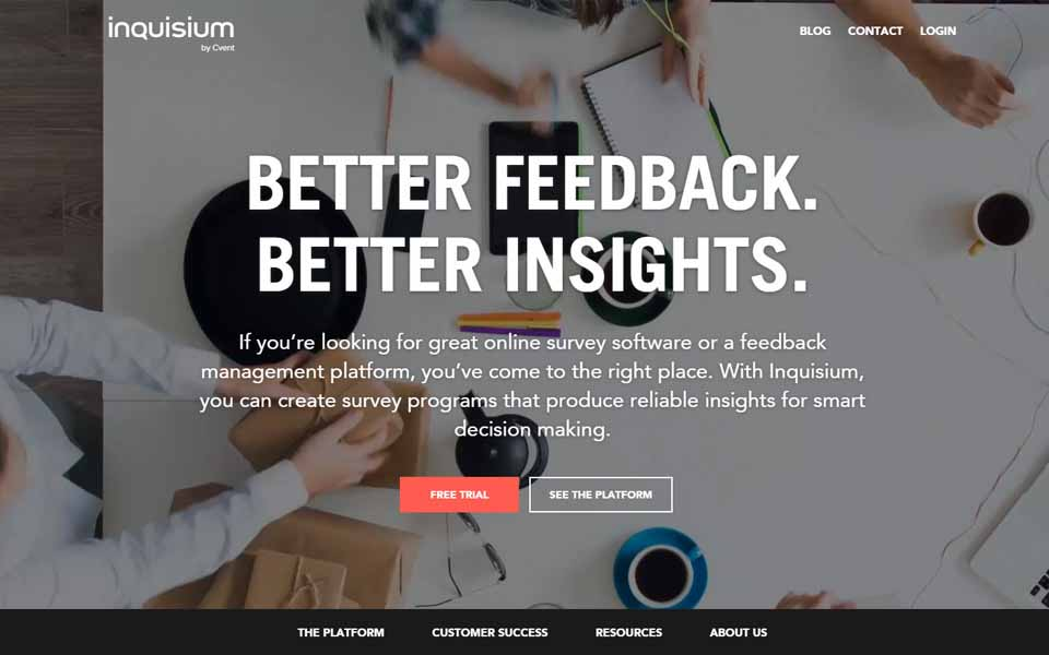 If you're looking for great online survey software or a feedback management platform, you've come to the right place. With Inquisium, you can create survey programs that produce reliable insights for smart decision making.